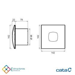 Extractor de baño Cata SILENTIS 10 - cotas