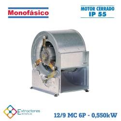 Ventilador centrífugo rodete chapa monofásico BP-ERP 12/9 MC 6P 0,550kW