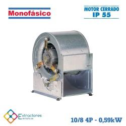 Ventilador centrífugo rodete chapa monofásico BP-ERP 10/8 MC 4P 0,550kW