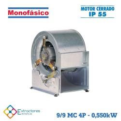 Ventilador centrífugo rodete chapa monofásico BP-ERP 9/9 MC 4P 0,550 kW