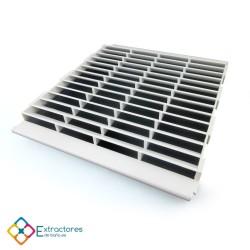 Rejilla de plástico blanca serie CU modular Derecha - Vista