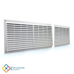 Rejilla de plástico blanca serie CU modular Centro - Completa