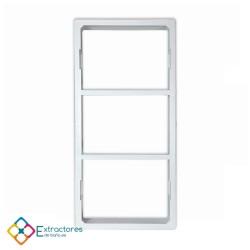 Rejilla ventilación baño PVC 9.8x22.5 cm con marco - Marco