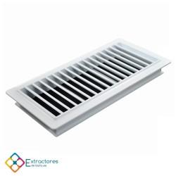 Rejilla ventilación baño PVC 9.8x22.5 cm con marco - Perfil