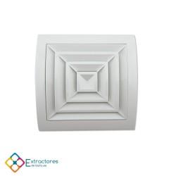Rejilla de plástico blanca serie ERC Ø100 - Frontal