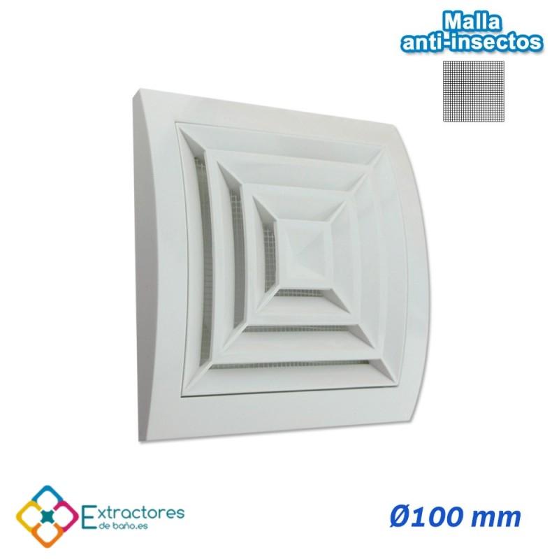 Rejilla de plástico blanca serie ERC Ø100