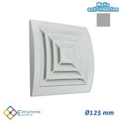Rejilla de plástico blanca serie ERC Ø125