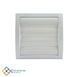 Rejilla de plástico blanca serie QS Ø100 - Frontal