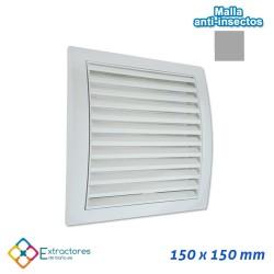 Rejilla de plástico blanca serie QP 150x150
