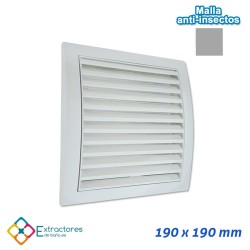 Rejilla de plástico blanca serie QP 190x190
