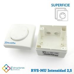 Regulador de velocidad RVE-MU-2,5 Empotrable - Superior