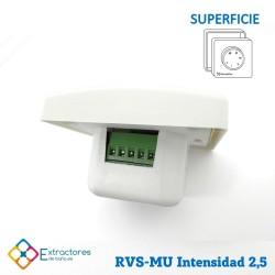 Regulador de velocidad RVE-MU-2,5 Empotrable - Detalle
