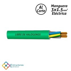 Manguera eléctrica 3x1.5mm2 verde (Libre de halógenos)