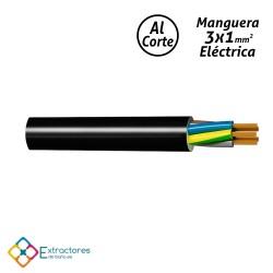 Manguera eléctrica 3x1mm2 negra